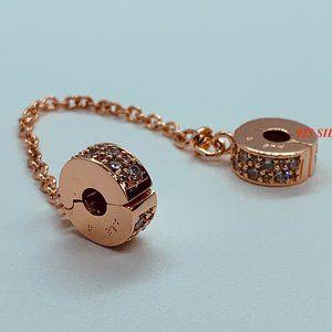 Pandora Rose Gold SHINING ELEGANCE Safety Chain
